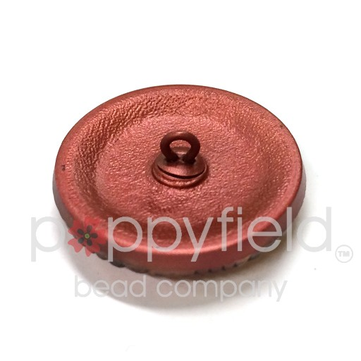 Czech Czech Button, 27 mm, Pink Cherry Wheel