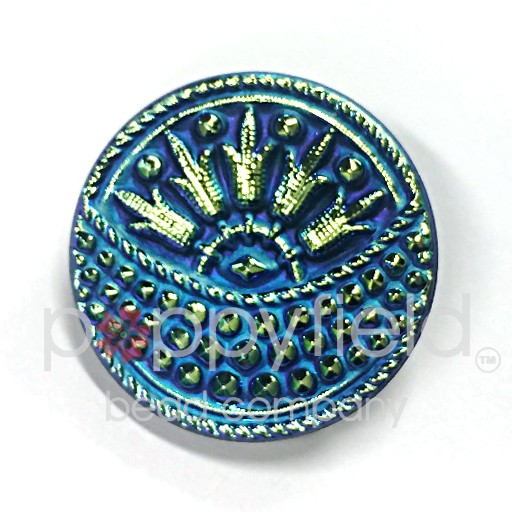 Czech Czech Button, 27 mm, Blue Moon