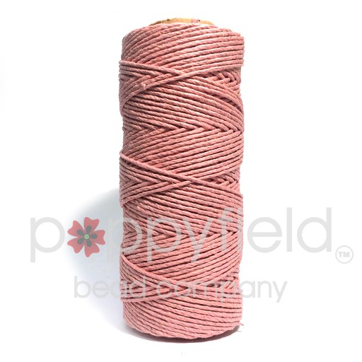 Hemp Cord, 20lb, Dusty Pink, 205 ft