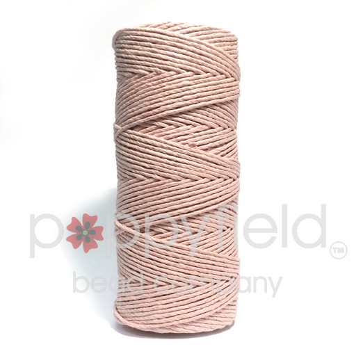 Hemp Cord, 20lb, Powder Pink, 205 ft
