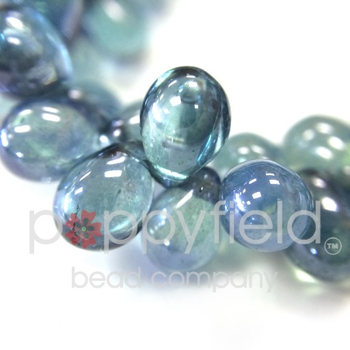 Czech Czech Drops, 5x7 mm, Denim, 50 pcs