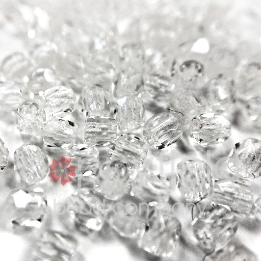 Czech Fire Polish, 2 mm, Crystal, 2 gm, approx. 200 pcs