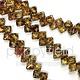 Czech 2 Hole Silky Beads, Alexandrite Picasso, 40 Pcs