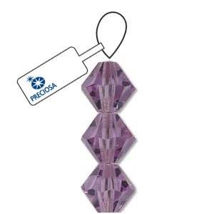 Czech Preciosa Bicone Strand, 4 mm, Violet, 31 pcs