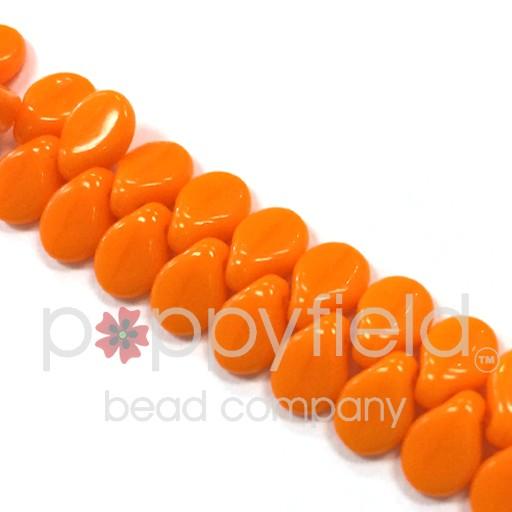 Czech Pips, Orange Opaque, approx. 50 pcs