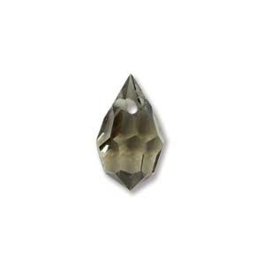 Czech Preciosa Crystal Drops, 6x10, Black Diamond, 4 pcs
