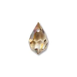 Czech Preciosa Crystal Drops, 6x10, Crystal Celsian, 4 pcs