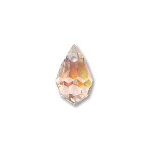 Czech Preciosa Crystal Drops, 6x10, Light Rose AB, 4 pcs