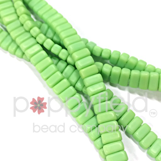 Czech Bricks, Matte Honeydew, 50 pcs