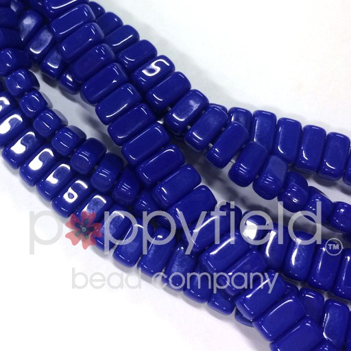 Czech Bricks, Indigo, 50 pcs