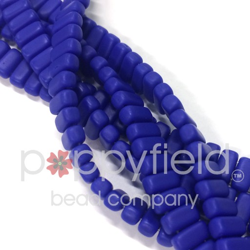 Czech Bricks, Matte Indigo, 50 pcs