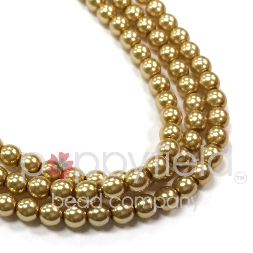 Druks, 4 mm, Gold, approx 60 pcs