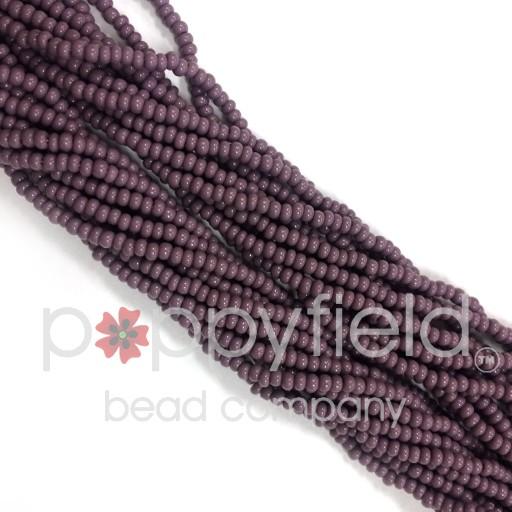 Czech Czech Round, 11/0, Opaque Purple, 18g