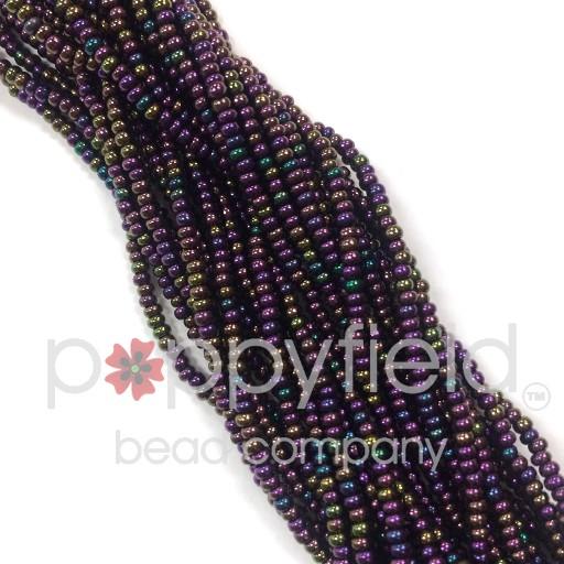 Czech Czech Round, 11/0, Purple-Iris, 18g