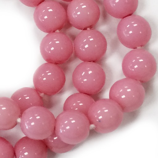 Czech Druks, 6mm, Pink, 25 pcs