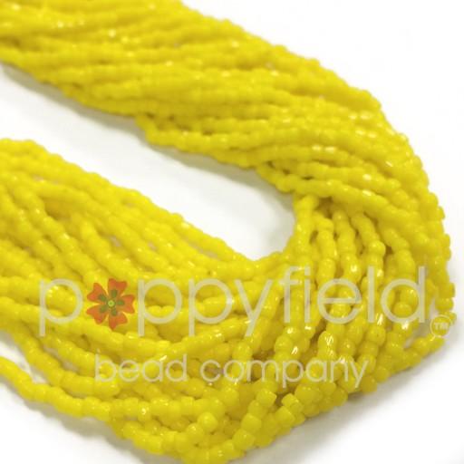Czech Czech 3CUT, 9/0, Opaque Yellow, 35g Hank