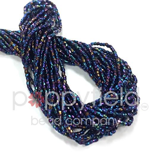 Czech Czech 3CUT, 12/0, Metallic Iris Blue, 16G Hank