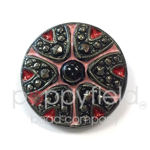 Czech Czech Button, 27 mm, VV Pattern