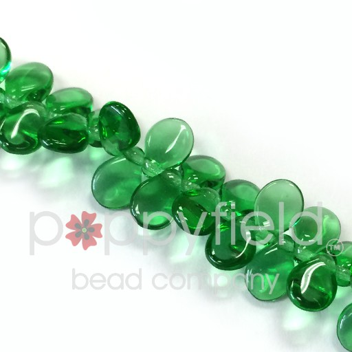Czech Pips, Transparent Green, 60 pcs