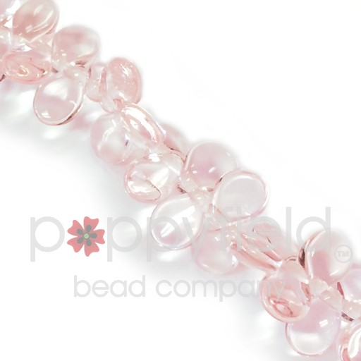Czech Pips, Transparent Pink, 60 pcs