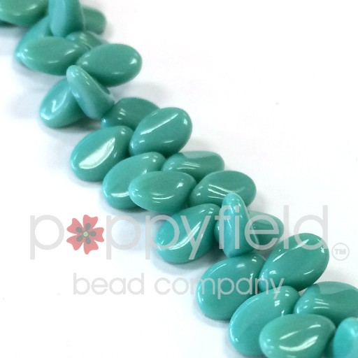 Czech Pips, Opaque Turquoise, 60 pcs