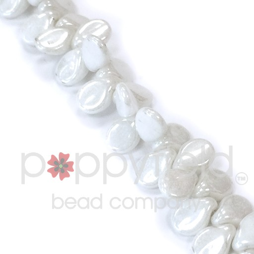 Czech Pips, White Alabaster, 60 pcs