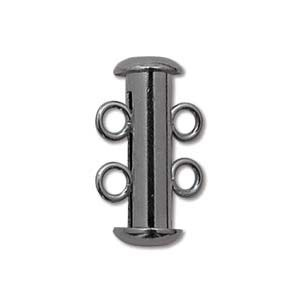 Chinese 2-Stand Clasp, Black Oxide, 16 mm