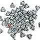 Czech 3-Hole Trinity Beads, 6 mm, Pastel Light Grey Silver, 10g (approx. 85 pcs.)