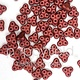 Czech 3-Hole Trinity Beads, 6 mm, Matte Metallic Red, 10g (approx. 85 pcs.)