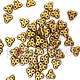 Czech 3-Hole Trinity Beads, 6 mm, Matte Metallic Antique Brass, 10g (approx. 85 pcs.)