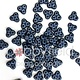 Czech 3-Hole Trinity Beads, 6 mm, Montana Blue, 10g (approx. 85 pcs.)