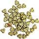 Czech 3-Hole Trinity Beads, 6 mm, Matte Metallic Olivine, 10g (approx. 85 pcs.)