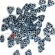 Czech 3-Hole Trinity Beads, 6 mm, Blue Luster, 10g (approx. 85 pcs.)