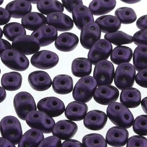 Czech Superduos, Metallic Suede Dark Purple, 25g