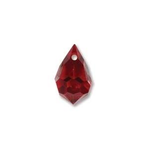 Czech Preciosa Crystal Drops, 6x10, Siam AB, 4 pcs