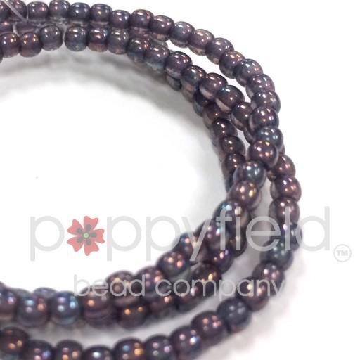 Czech Czech Druk Beads, 3 mm, Mother of Pearl, approx. 50 pcs