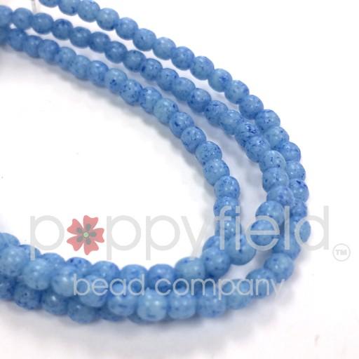 Czech Czech Druk Beads, 3 mm, Cerulean, Approx. 50 pcs.