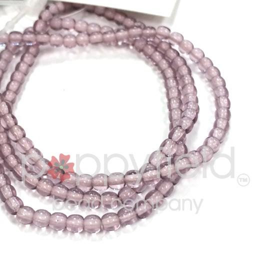 Czech Druk Beads, 3mm, Light Amethyst, Approx. 52 pcs
