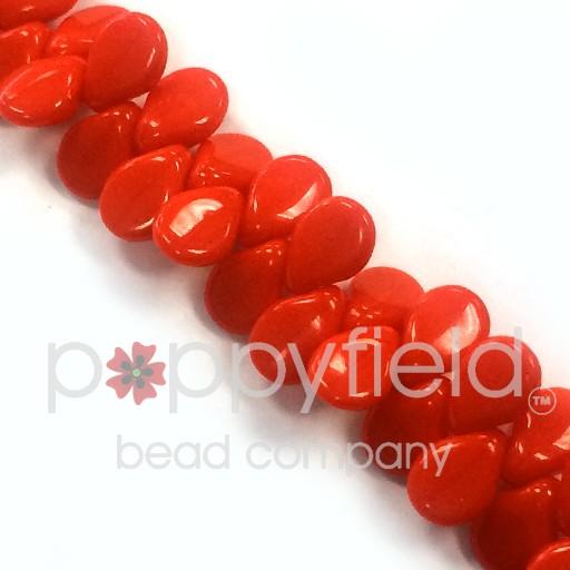 Czech Pips, Opaque Red, 60 pcs