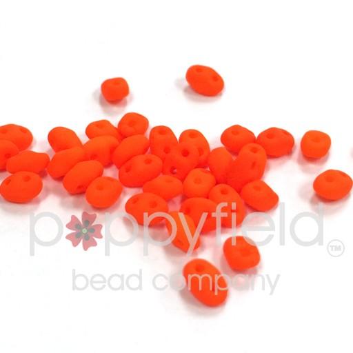 Czech MINI-DUO, Alabaster Orange Neon, 12g