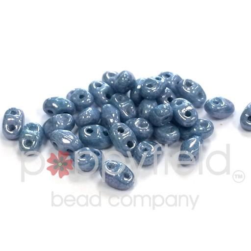 Czech MINI-DUO, Chalk Blue Luster, 12g
