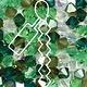 Czech Preciosa Bicone Strand, 4 mm, Evergreens Mix, 31 pcs