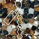 Czech Preciosa Bicone Strand, 6 mm, Pebblestone Mix, 21 pcs