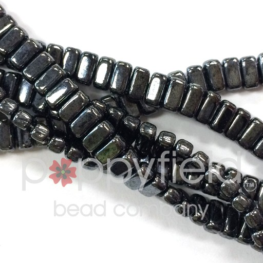 Czech Bricks, Hematite, 50 pcs