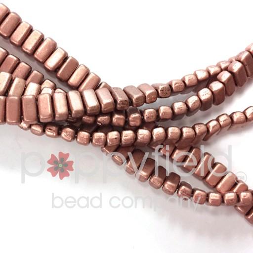 Czech Bricks, Matte Metallic Copper, 50 pcs