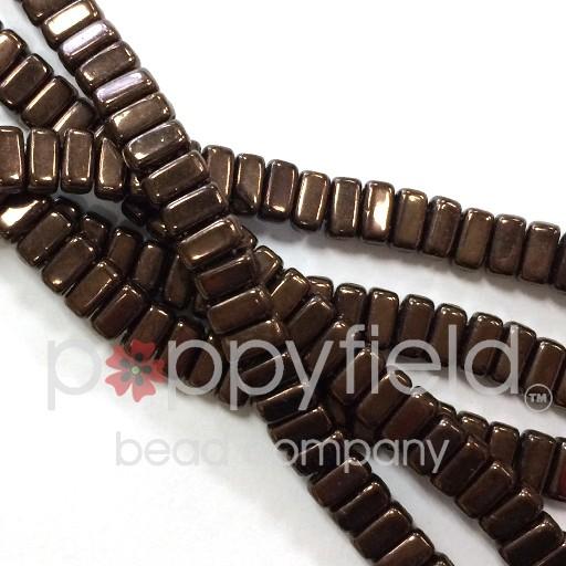 Czech Bricks, Dark Bronze, 50 pcs