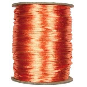 USA Satin Cord (Rattail), 2mm, Peach, per 1 yd
