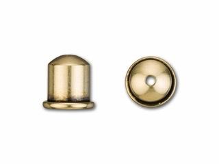 Cupola Endcaps, 6 mm, Antique Brass Finish, 2pcs