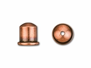 Cupola Endcaps, 6 mm, Antique Copper Finish, 2pcs