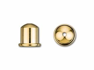 Cupola Endcaps, 6 mm, Bright Gold Finish, 2pcs